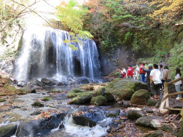 これが達沢不動滝です!